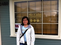 Me in front of Mr. Gold's