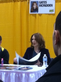 Gates McFadden Getting her table ready