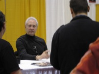 Brent Spiner at his table during Comic Con Toronto 2013