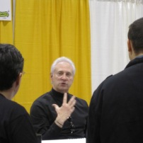 More of Brent Spiner at his table during Comic Con Toronto 2013