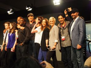 Continuum Cast Photo After their Panel. Photo by Nadya Ogloff