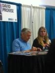 David Prowse (aka Darth Vader) at his table.