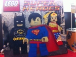 Batman, Superman and Wonder Woman in Lego form