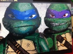 Leonardo and Donatello in Lego form