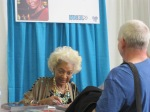 Nichelle Nichols at her table