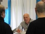 Michael Hogan at his table