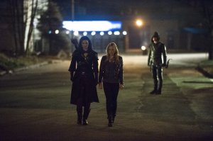 Nyssa Sara and Arrow