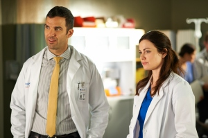 Benjamin Ayers as Zach Miller and Erica Durance as Alex Reid