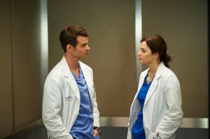 Daniel Gillie as Joel Goren and Erica Durance as Alex Reid