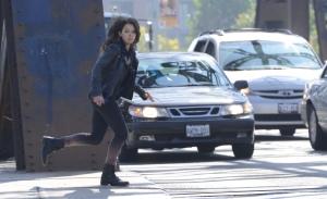 Sarah (Tatiana Maslany) on the run
