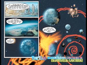 Earths being destroyed. Art by Edgar Salazar
