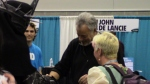 John de Lancie checking out the cosplay