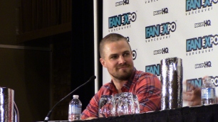 Stephen Amell during his panel