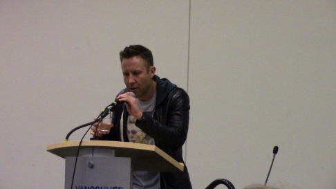 Michael Rosenbaum during his hilarious panel