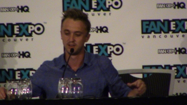 Tom Felton during his panel