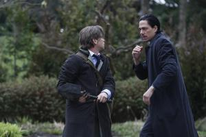Jason (Ian Tracey) getting confronted by Agent Miller (Zak Santiago)