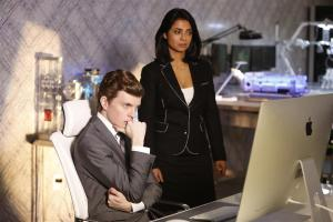 Alec (Erik Knudsen) looking concerned as Jacqueline (Anjali Jay) looks on.