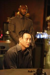 Adrian Holmes as Agent Warren and Terry Chen as Curtis