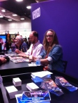 Smallville Season 11 Writer Bryan Q. Miller and Smallville Season 11 Cover Artist Cat Staggs signing autographs