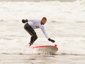 Rob attempting to Hang Ten
