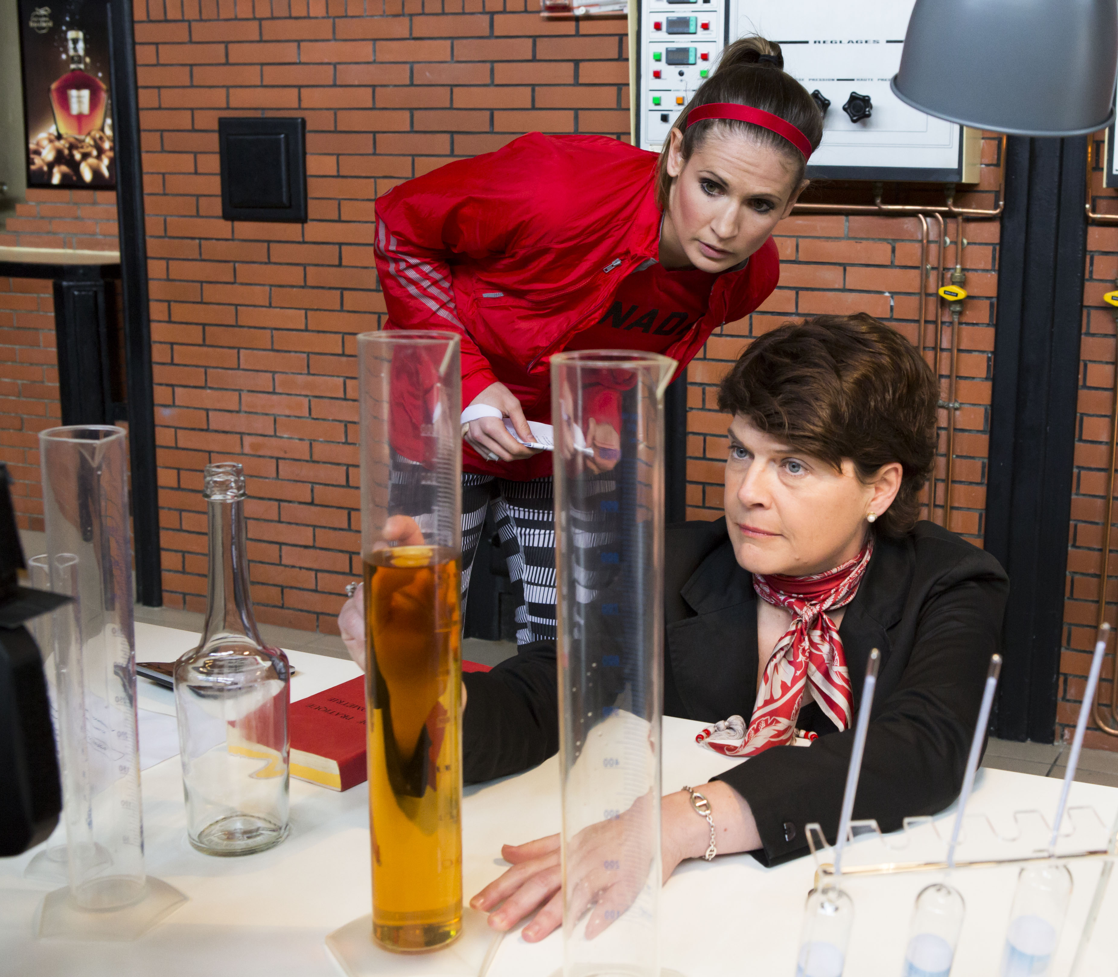 Meaghan-learns-the-science-of-Calvados-with-President-of-Calvados-Boulard-Marianna-Saloux