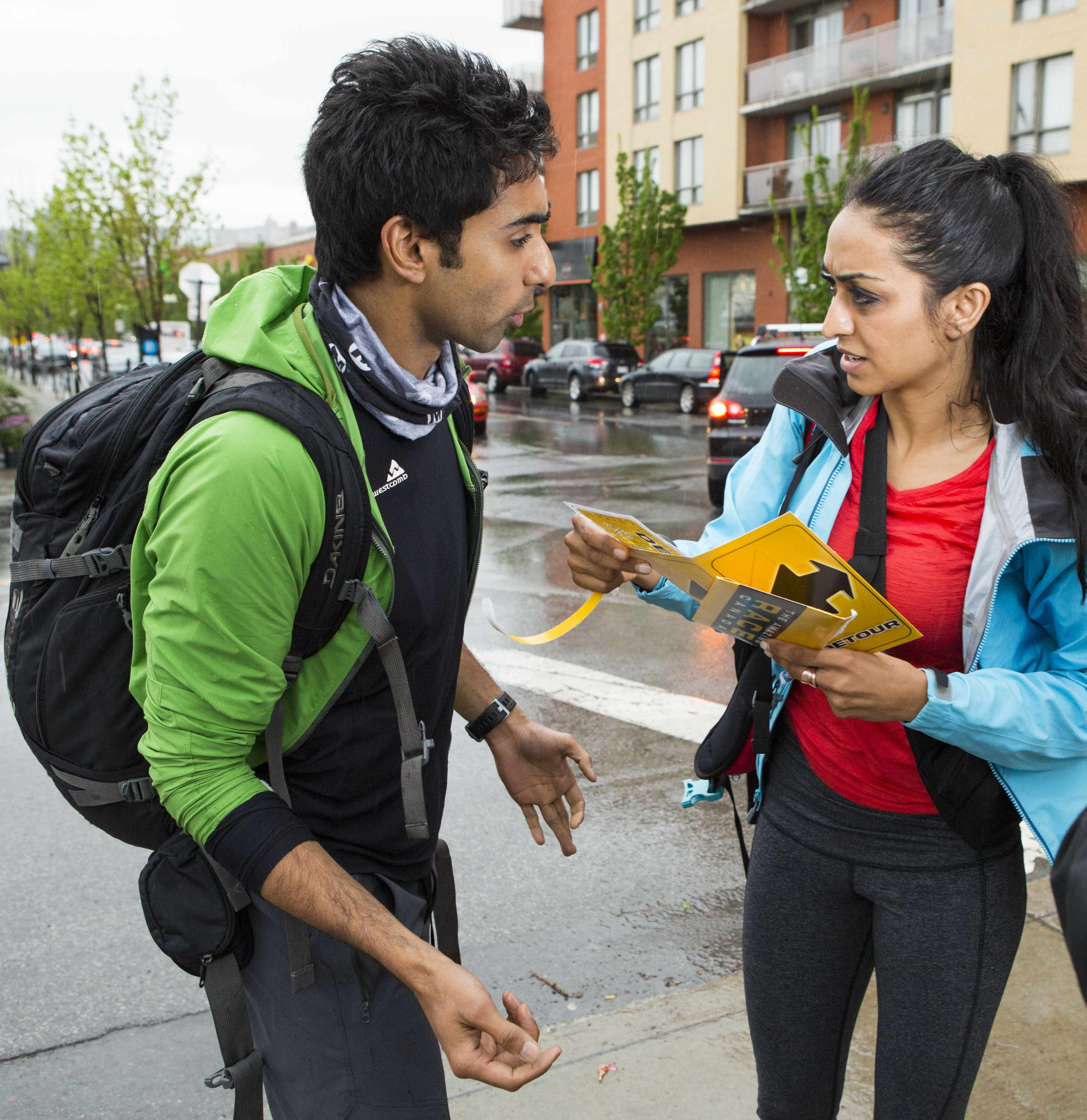 Jinder-and-Sukhi-discuss-their-options-Atwater-Market-Route-Marker