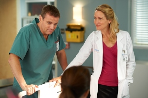 Michael Shanks (Charlie Harris) and Michelle Nolden (Dawn Bell)