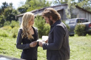 Laura Vandervoort as Elena Michaels and Greyston Holt as Clay Danvers