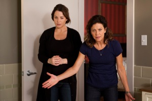 Erica Durance as Alex Reid and Wendy Crewson and Dana Kinney