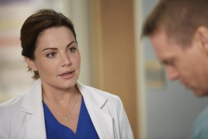 Erica Durance as Alex Reid and Michael Shanks as Charlie Harris
