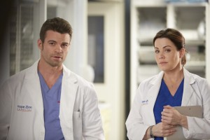 Daniel Gillies as Joel Goren and Erica Durance as Alex Reid