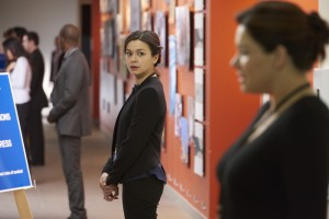 Julia Taylor Ross as Maggie Lin and Erica Durance as Alex Reid