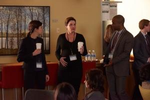 Julia Taylor Ross (Dr. Maggie Lin), Erica Durance (Dr. Alex Reid) and Danso Gordon (Dr. Rian Larouche)
