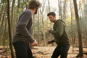 "Greyston Holt as Aleister/""Clay Danvers"" and Steve Lund as Nick Sorrentino"