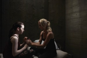Kiara Glasco as Savannah Levine and Laura Vandervoort as Elena Michaels