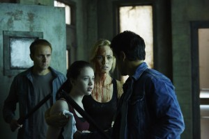 Kiara Glasco as Savannah Levine, Laura Vandervoort as Elena Michaels and Sean Rogerson as Aleister