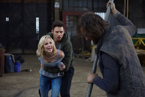 Laura Vandervoort as Elena Michaels, Steve Lund as Nick Sorrentino and Greg Bryk as Jeremy Danvers