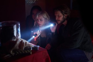 Laura Vandervoort as Elena Michaels and Greyston Holt as Clay Danver