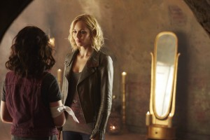 Kiara Glasco as Savannah and Laura Vandervoort as Elena Michaels