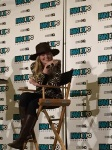 Jennifer Morrison at her panel laughing when a fan asks her out