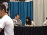 Shannen Doherty at her table