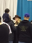Jennifer Morrison with a fan at her table
