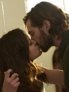 Tatiana Maslany as Sarah and Michiel Huisman as Cal
