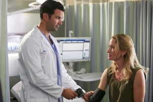 Benjamin Ayers as Dr. Zach Miller and Michelle Nolden as Dr. Dawn Bell