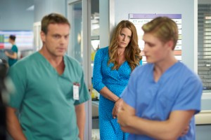 Michael Shanks as Charlie Harris and Monika Schnarre as Spirit Caroline
