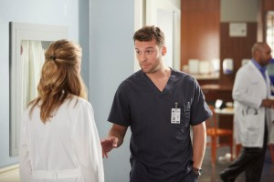 Kim Shaw as Dr. Cassie Williams and Peter Mooney as Dr. Jeremy Bishop