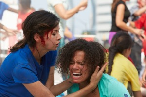 Julia Taylor Ross as Maggie Lin and Genelle Williams as Shelby Hart