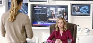 """Hostile Takeover"" -- Kara (Melissa Benoist, left) goes toe-to-toe with Astra when her aunt challenges Kara's beliefs about her mother. Also, Cat (Calista Flockhart, right) is threatened with being removed as the CEO of CatCo after a hacker exposes her private and damaging emails, on SUPERGIRL, Monday, Dec. 14 (8:00-9:00 PM, ET/PT) on the CBS Television Network.  Photo: Trae Patton/CBS ©2015 CBS Broadcasting, Inc. All Rights Reserved"