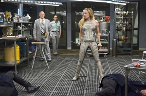 """DC's Legends of Tomorrow -- """"Pilot, Part 2"""" -- Image LGN102a_0292b -- Pictured: Caity Lotz as Sara Lance/White Canary -- Photo: Jeff Weddell/The CW -- © 2015 The CW Network, LLC. All Rights Reserved."""
