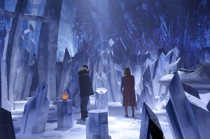 """Solitude"" -- Kara travels to Superman's Fortress of Solitude in hopes of learning how to defeat Indigo, a dangerous being who can transport via the Internet and who has a connection to Kara's past, on SUPERGIRL, Monday, Feb. 29 (8:00-9:00 PM, ET/PT) on the CBS Television Network. Pictured left to right: Mehcad Brooks and Melissa Benoist Photo: Darren Michaels/CBS ©2016 CBS Broadcasting, Inc. All Rights Reserved"